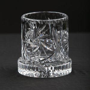 Vintage Polish Lead Crystal Candle Votive holder